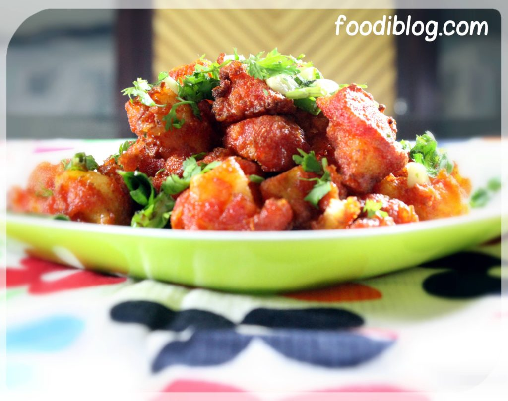 Aloo 65 recipe, one of the most prepared dishes in Southern India (Especially Andhra and Telangana)